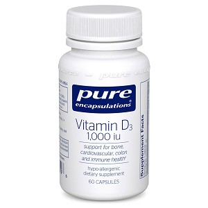 Vitamin D3 1000 i.u. by Pure Encapsulations 60, 120 or 250 Capsules