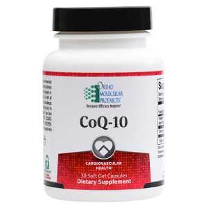 CoQ-10 by Ortho Molecular Products 30, 60 or 120 Soft Gels