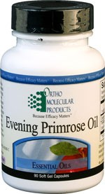 Evening Primrose Oil 1300 mg by Ortho Molecular Products 90 or 180 Capsules