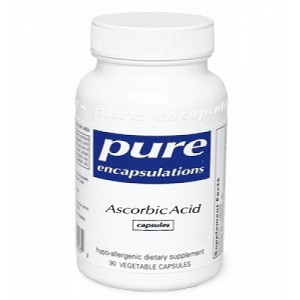 Pure Ascorbic Acid capsules (1000mg) by Pure Encapsulations 90 Capsules