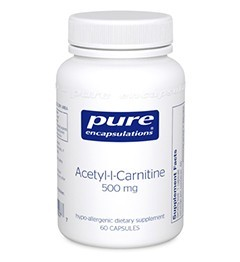 Acetyl-L-Carnitine 250mg  by Pure Encapsulations 60 Capsules