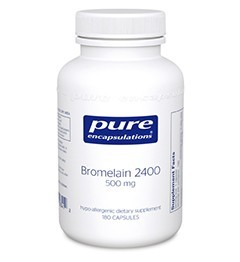 Bromelain 2400 500mg by Pure Encapsulations 180 Capsules