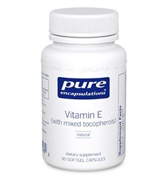 Vitamin E (mixed tocopherols) by Pure Encapsulations 180 Soft Gels