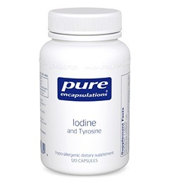 Iodine and Tyrosine by Pure Encapsulations 120 Capsules