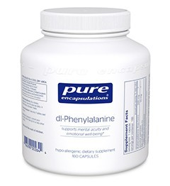 dl-Phenylalanine by Pure Encapsulations 180 Capsules