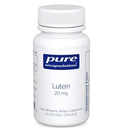 Lutein 20mg by Pure Encapsulations 60 Soft Gels