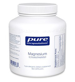 Magnesium (citrate/malate) by Pure Encapsulations 180 Capsules