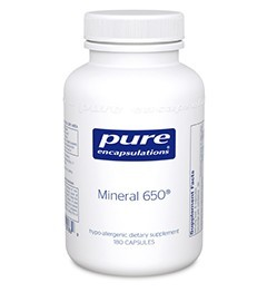 Mineral 650 w/o Cu&Fe by Pure Encapsulations 180 Capsules