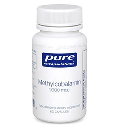 Methylcobalamin 1000mcg by Pure Encapsulations 60 Capsules