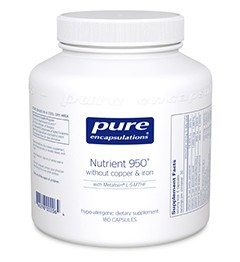 Nutrient 950 w/o Cu & Fe by Pure Encapsulations 180 Capsules