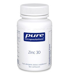 Zinc 30 by Pure Encapsulations 60 Capsules