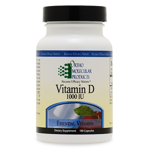 Vitamin D 1,000 IU by Ortho Molecular Products 180 Capsules